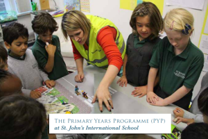 école Saint John's International School programme