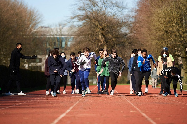 Montgomery International School : sports classes in VUB sports complex and Cinquantenaire Park